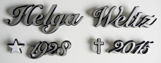 3d chrombuchstaben firmenlogo hersteller grabbeschriftung. Black Bedroom Furniture Sets. Home Design Ideas